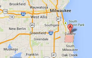 Cudahy Wisconsin Map.24 Hour Emergency Dental Care For Cudahy Residents