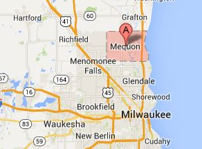 Map of Mequon Wisconsin - 53092, 53097