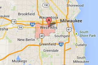 Map of West Allis - Milwaukee - Wisconsin